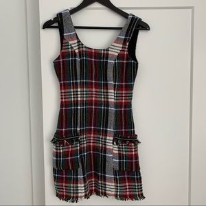 Zara TRF Collection Plaid Woven Dress
